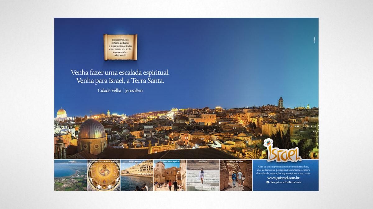 Ministério do Turismo de Israel . Golombek Comunicação